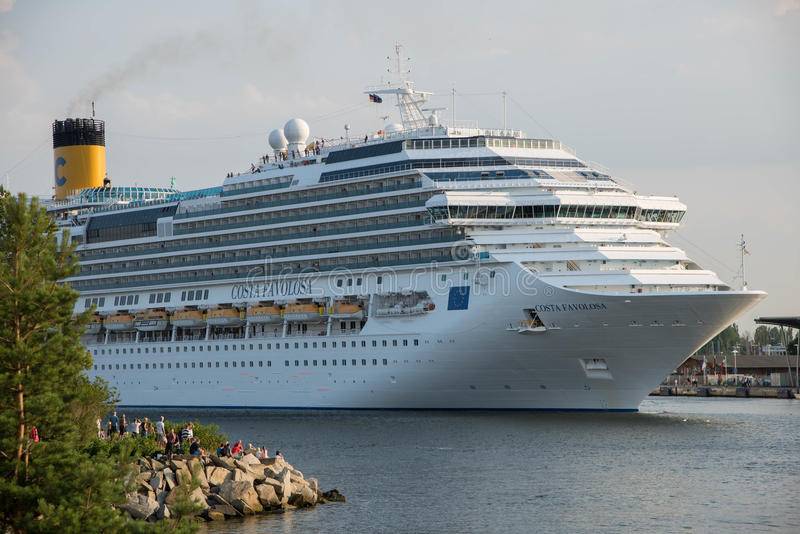 Costa Favolosa-cruiseschip royalty-vrije stock fotografie