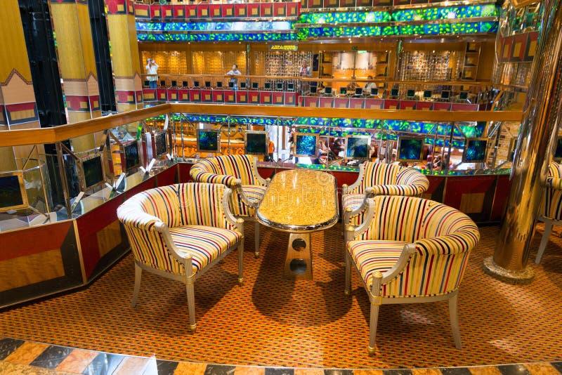 Costa Fortuna statku wycieczkowego wnętrze obraz stock