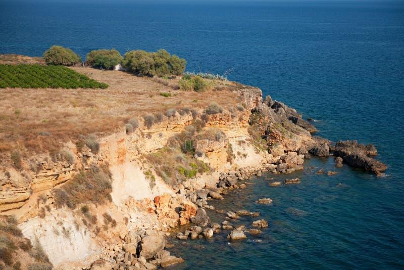 Costa griega Untamed imagenes de archivo