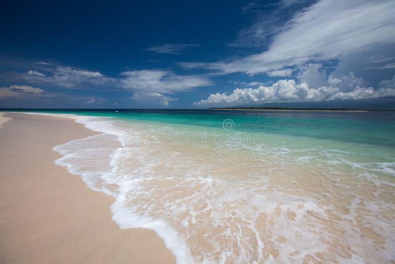 Costa hermosa de la isla de Gili Meno, Indonesia foto de archivo