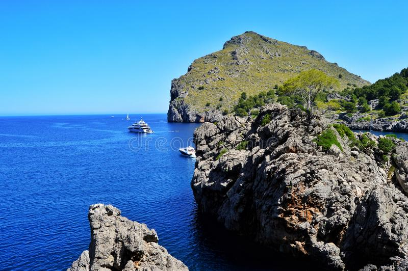 Costa incredibile di Mallorca fotografia stock