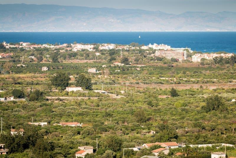 Costa Ionian imagem de stock
