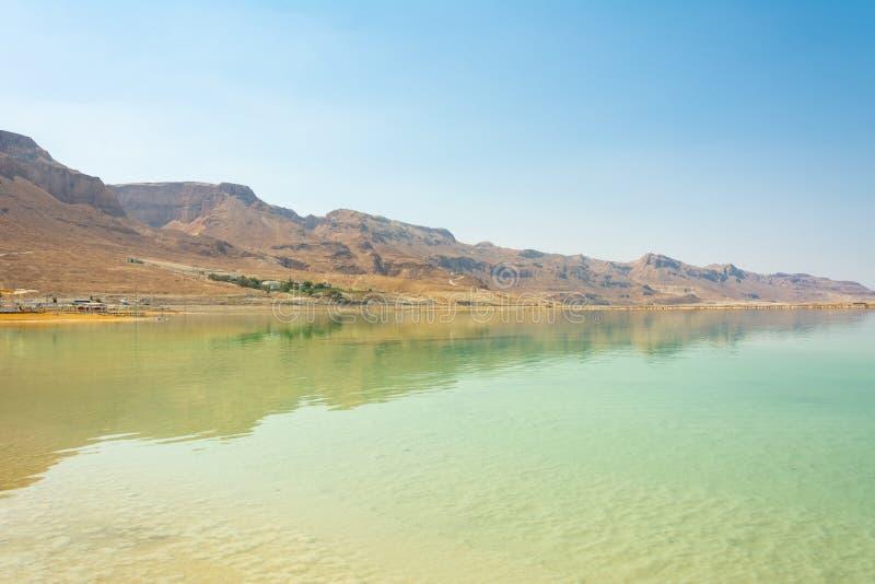 Costa israelita do Mar Morto fotografia de stock