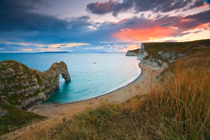 Costa jurássico em Dorset, Reino Unido foto de stock