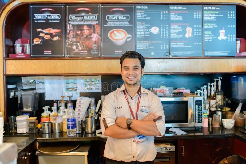 Costa kawy barman zdjęcie royalty free