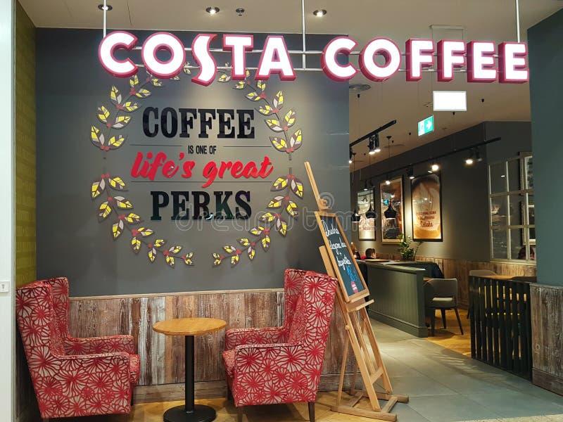 Costa kawy coffeehouse zdjęcie stock