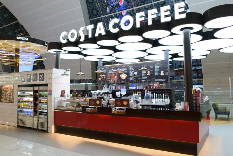 Costa kawy kawiarnia zdjęcia stock