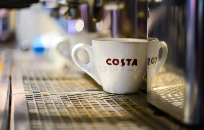 Costa kawy kawiarnia obraz stock