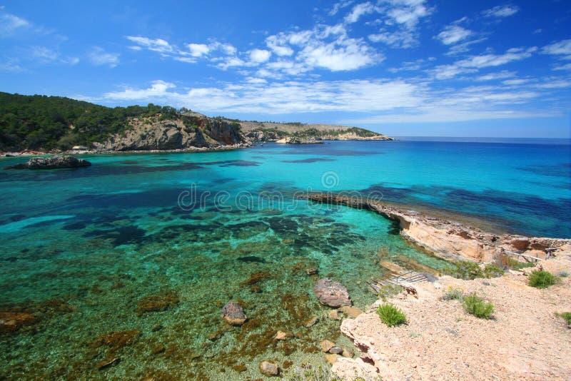 Costa Lina de Ibiza foto de archivo