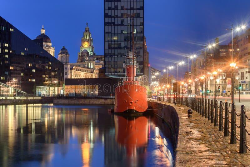 Costa Liverpool Reino Unido fotos de archivo