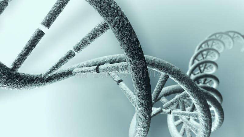 Costa longa do ADN ilustração stock