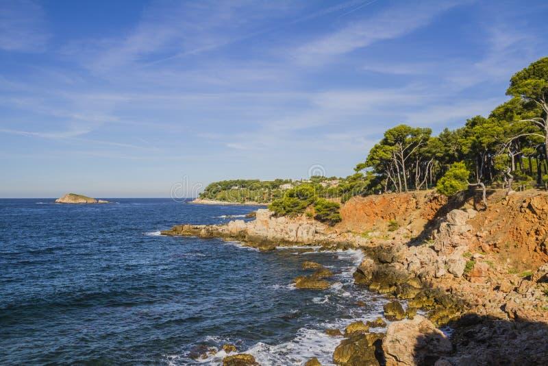 A costa mediterrânea fotografia de stock