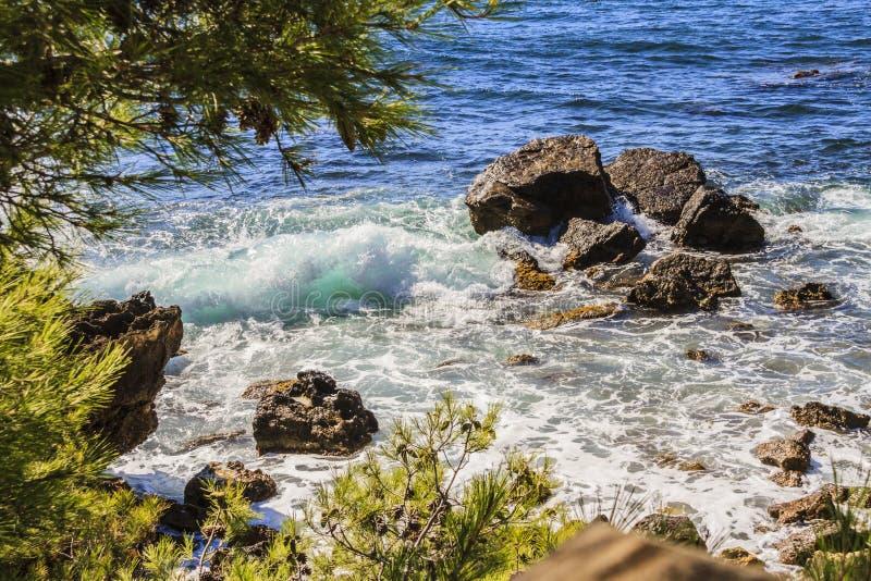 A costa mediterrânea imagem de stock royalty free