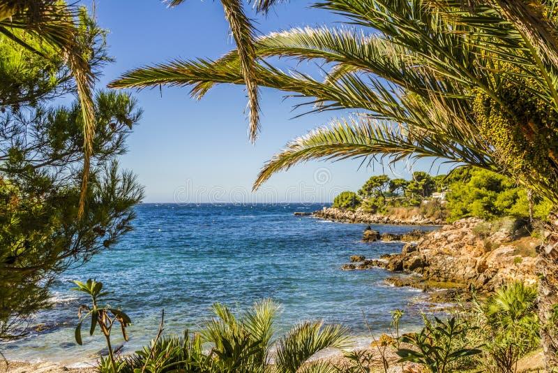 A costa mediterrânea fotografia de stock royalty free