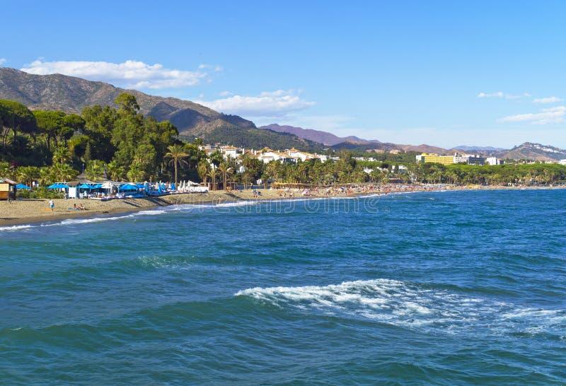 Costa mediterrânea, Marbella, Espanha imagens de stock