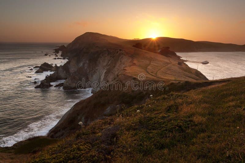 Costa nacional de Reyes de la punta, California fotografía de archivo