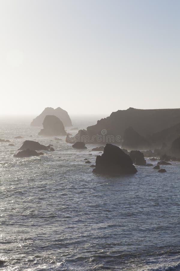 Costa nebbiosa di California fotografia stock