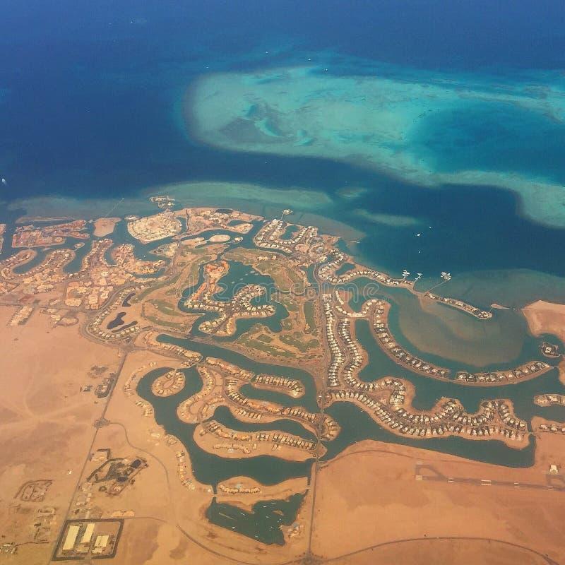 Costa nell'Egitto fotografia stock