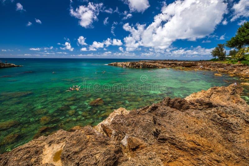 Costa norte Oahu fotos de stock royalty free