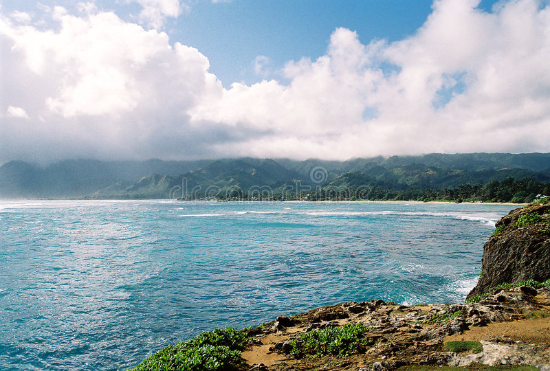 Costa norte Oahu foto de stock royalty free