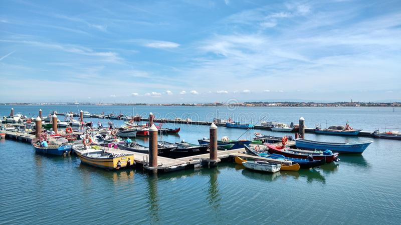 Costa Nova Fishing Pier images stock
