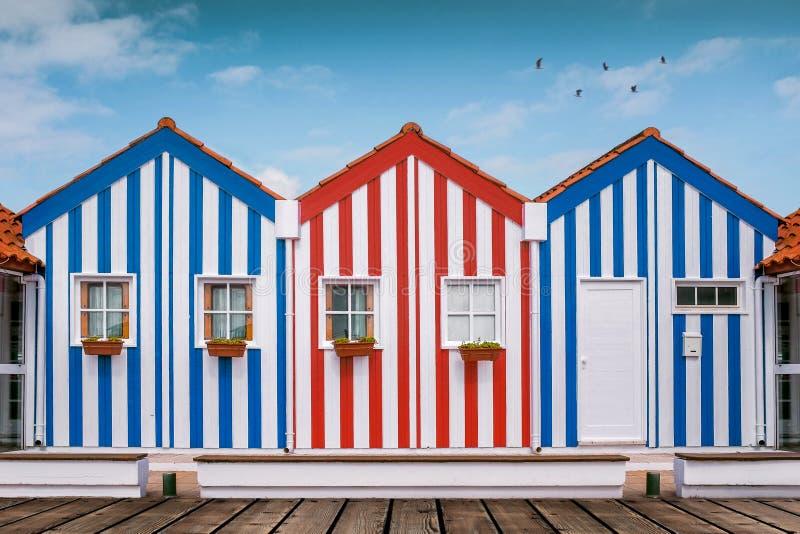 Costa Nova Houses 1 immagine stock