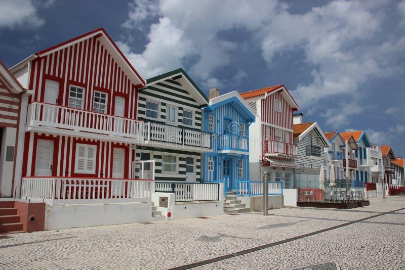 Costa Nova, Portugal royalty free stock image
