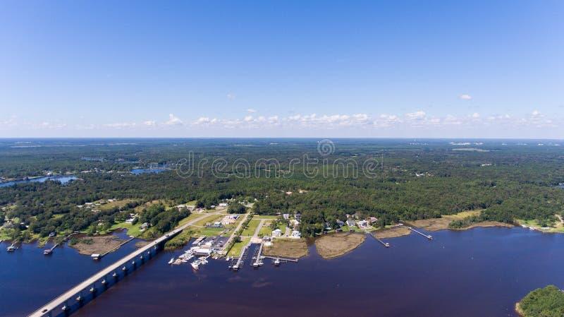 Costa ocidental da baía móvel, Alabama imagem de stock
