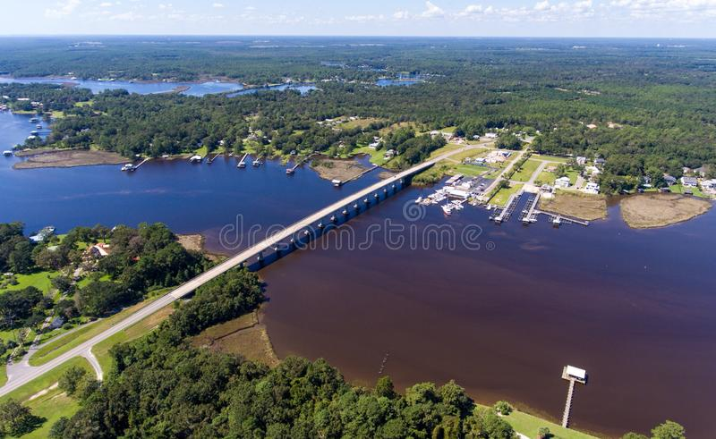 Costa ocidental da baía móvel, Alabama fotos de stock royalty free