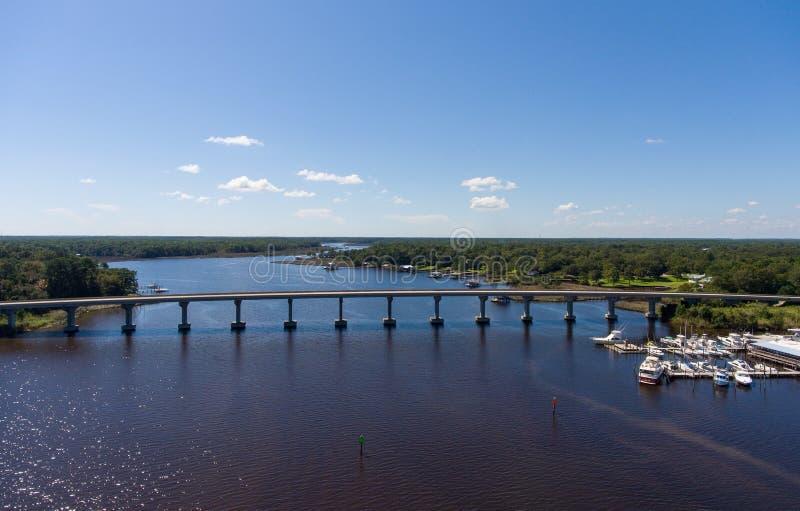 Costa ocidental da baía móvel, Alabama fotografia de stock