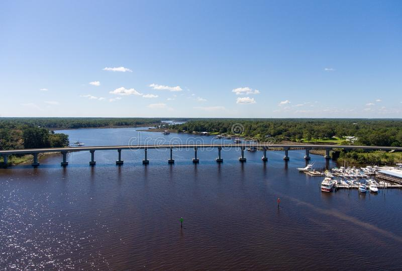 Costa ocidental da baía móvel, Alabama foto de stock royalty free