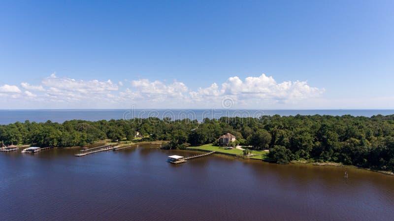 Costa ocidental da baía móvel, Alabama imagens de stock royalty free