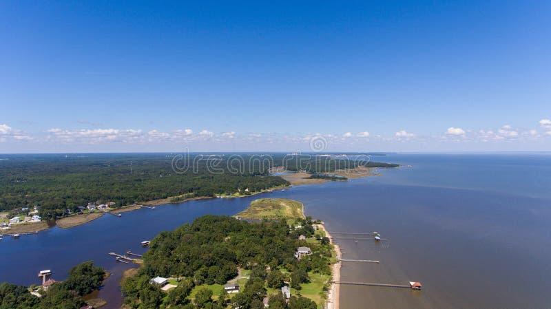 Costa ocidental da baía móvel, Alabama imagem de stock royalty free