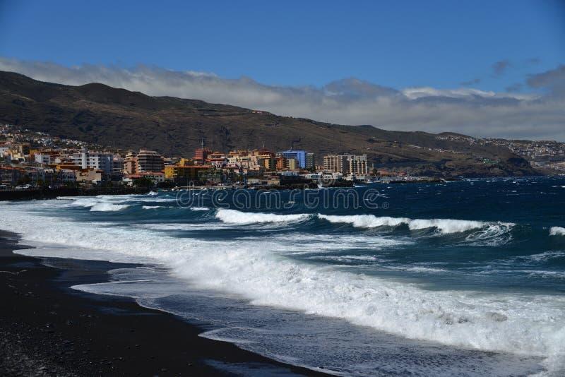 A costa oeste de Tenerife - Candelaria foto de stock royalty free