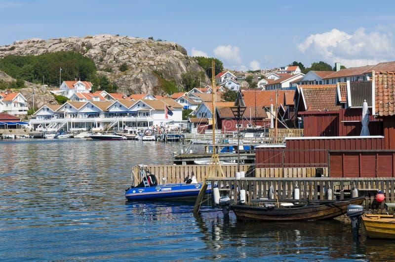 Costa oeste do sueco de Hunnebostrand fotos de stock royalty free