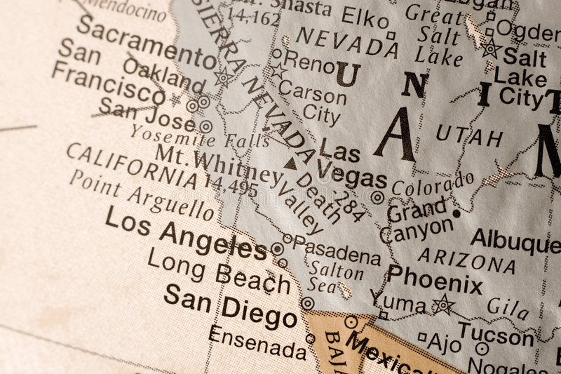 Costa oeste EUA de Califórnia fotos de stock royalty free