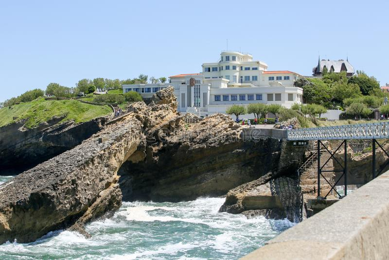Costa oeste francesa de Biarritz foto de archivo