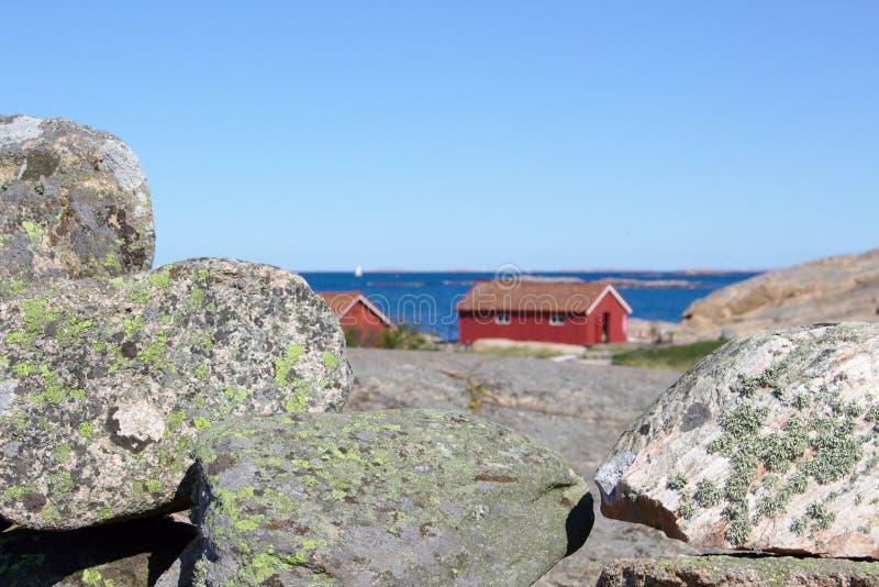 Costa oeste sueco imagem de stock royalty free