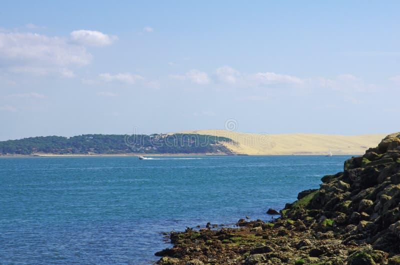 Costa ovest baia della Francia, Arcachon, duna di sabbia di Pilat, Cap Ferret fotografie stock