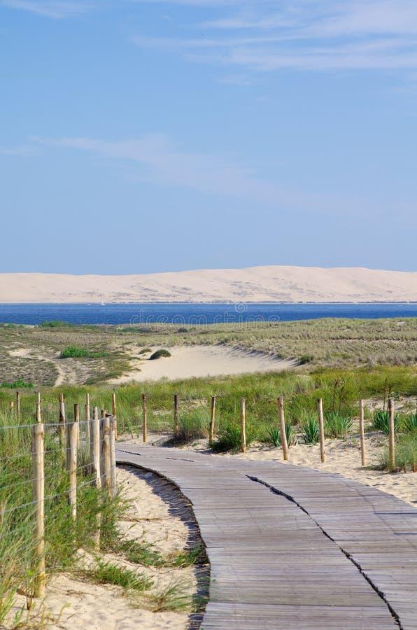 Costa ovest baia della Francia, Arcachon, duna di sabbia di Pilat, Cap Ferret fotografie stock libere da diritti