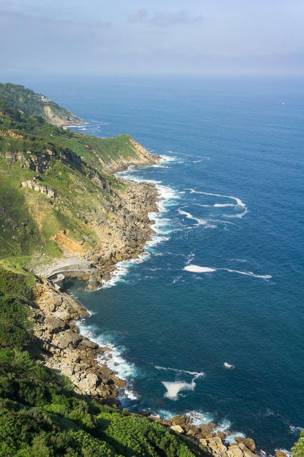 Costa in Paese Basco, Spagna fotografia stock libera da diritti