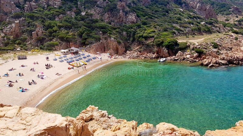Costa Paradiso na costa do norte de Sardinia imagem de stock royalty free