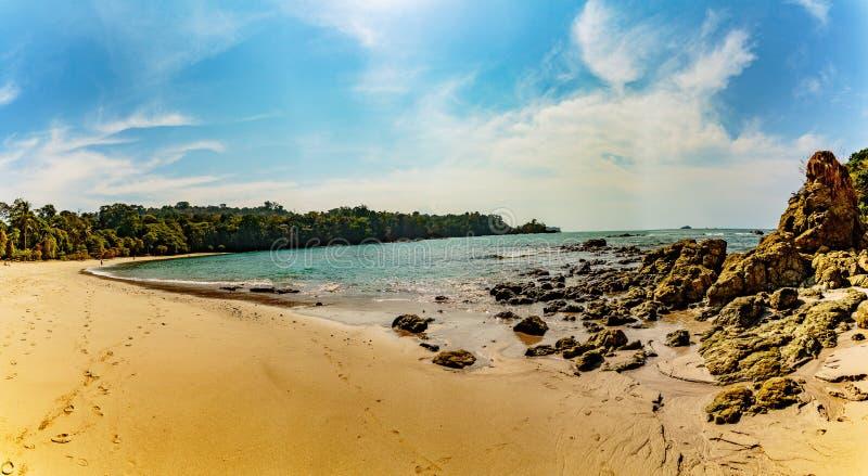 costa plażowy rica zdjęcia royalty free