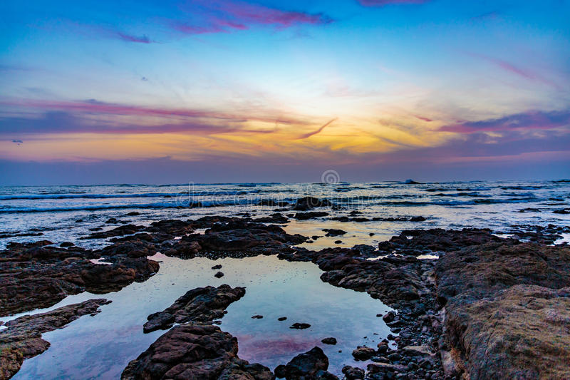 costa plażowy rica obraz royalty free