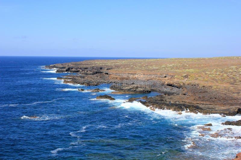 Costa preta de Tenerife imagem de stock
