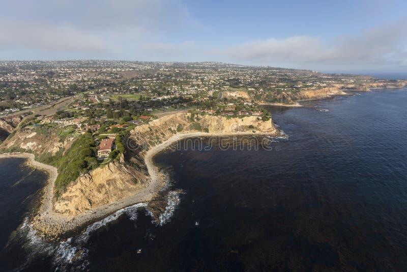 Costa Rancho aéreo Palos Verdes de Califórnia do sul imagens de stock royalty free