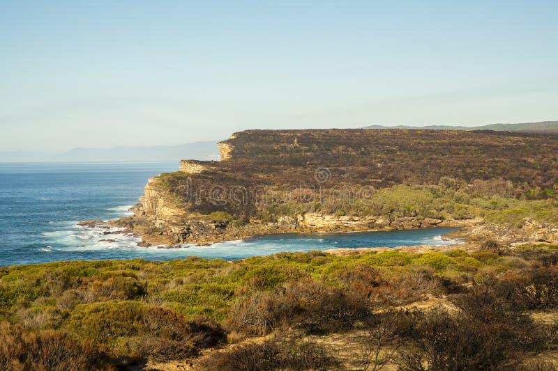 Costa real do parque nacional na manhã foto de stock royalty free