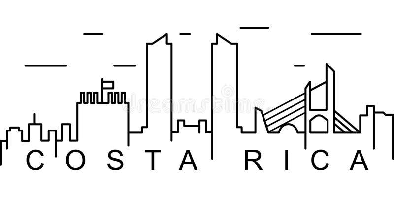 Costa Rica översiktssymbol Kan användas för rengöringsduken, logoen, den mobila appen, UI, UX stock illustrationer