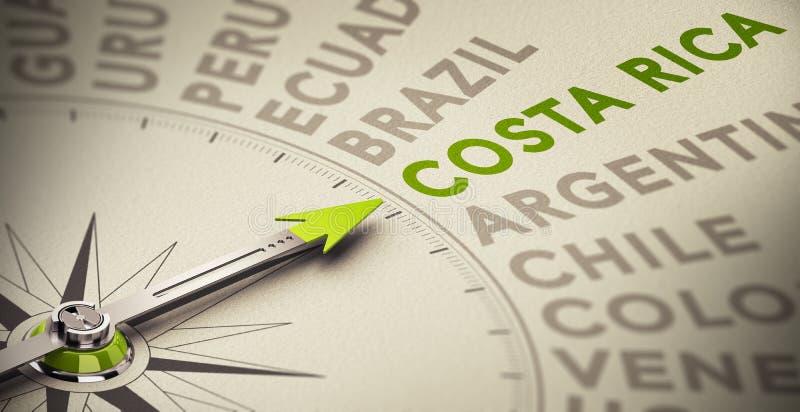 Costa Rica stock de ilustración