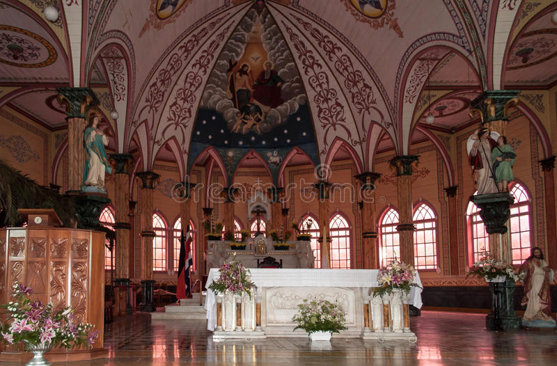 Costa Rica Alajuela kościół ołtarz obrazy stock